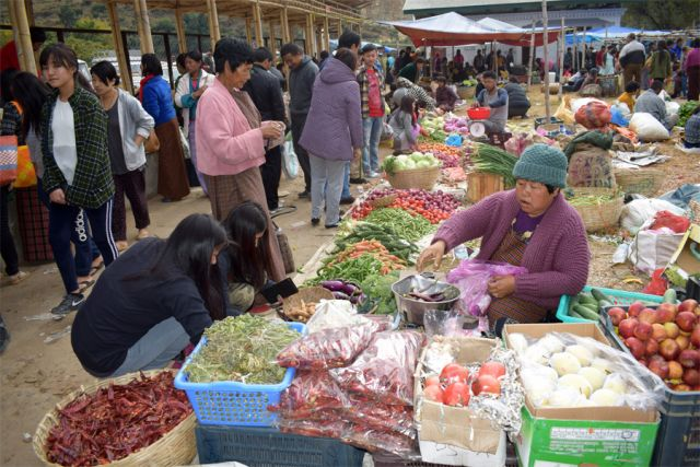 Week-end markets of Bhutan