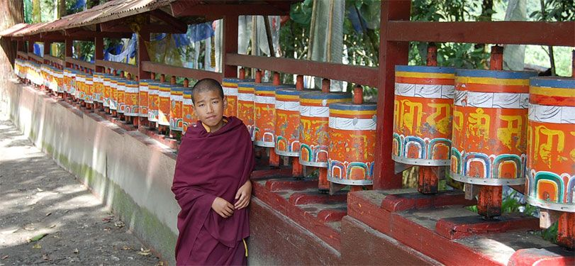 A monk at a monastery in Sikkim