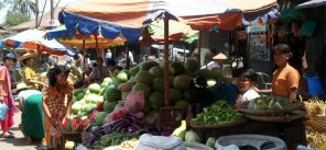 A market in Inle Lake