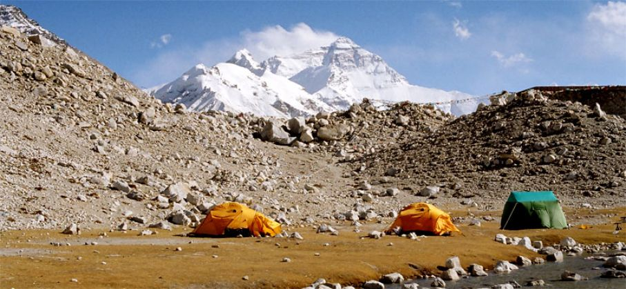 Camping at Tibet Everest Base Camp