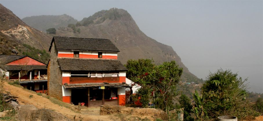 A typical Nepali house.